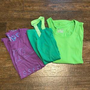 Nike and Under Amour shirt bundle